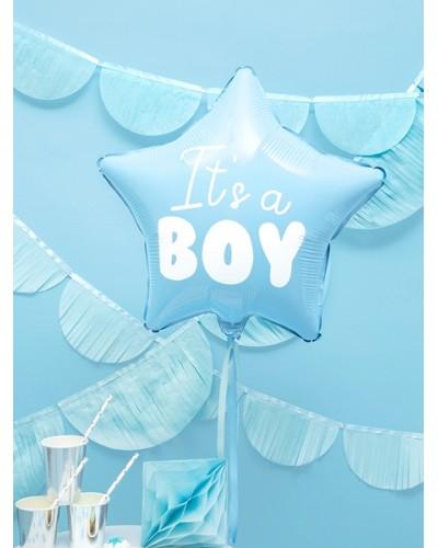 Balon foliowy gwiazdka - It's a boy