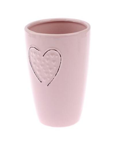 Doniczka ceramiczna w kolorze różowym Pastelowa