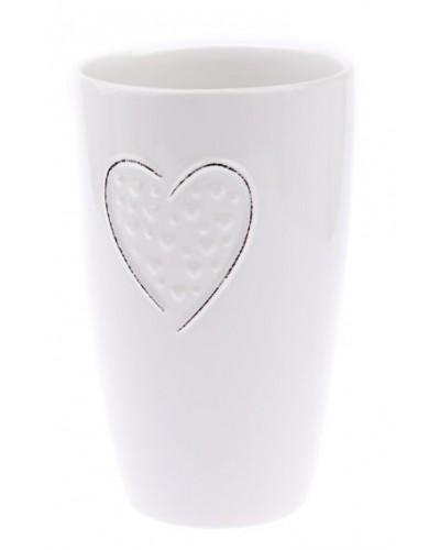Doniczka ceramiczna w kolorze białym Pastelowa