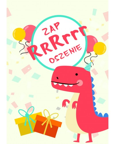 Zaproszenie na urodziny Dinozaury