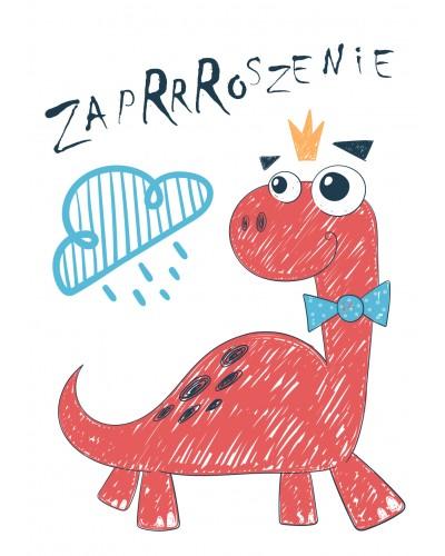 Zaproszenie na urodziny Dinozaur