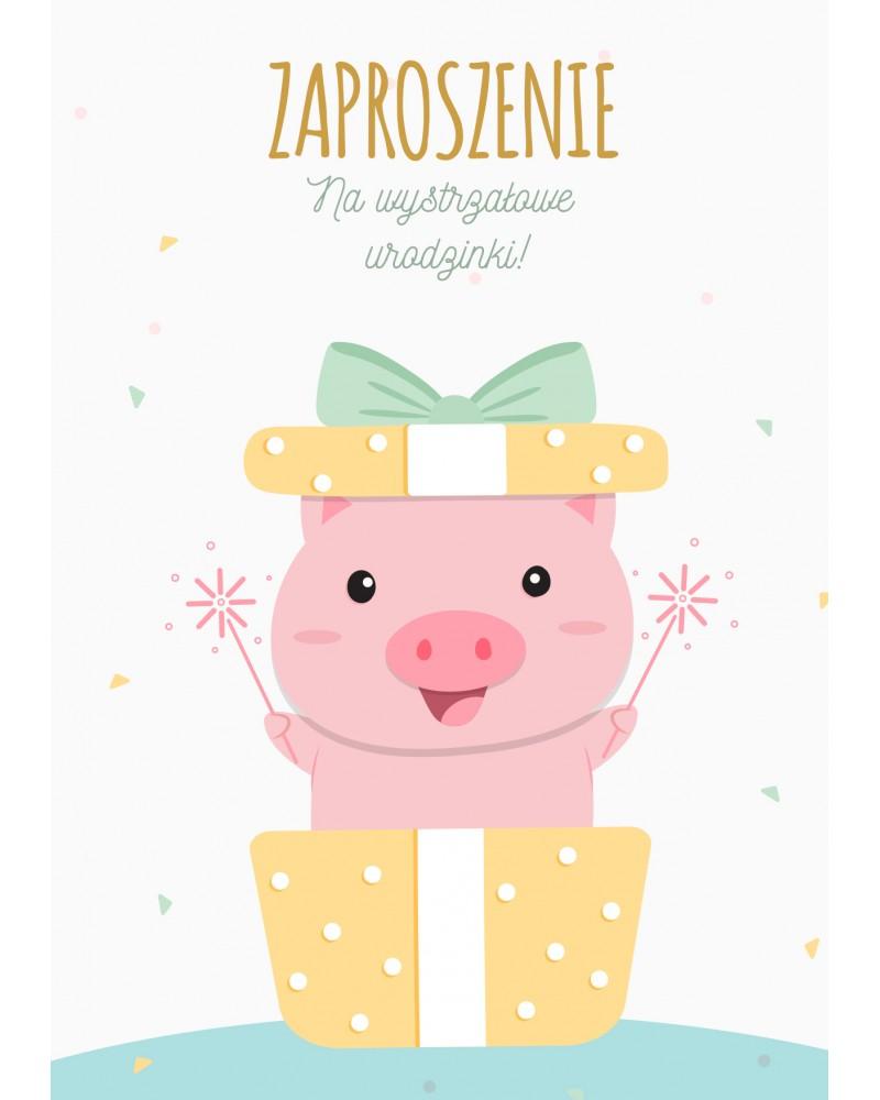 Zaproszenie na urodziny Świnka Pepa