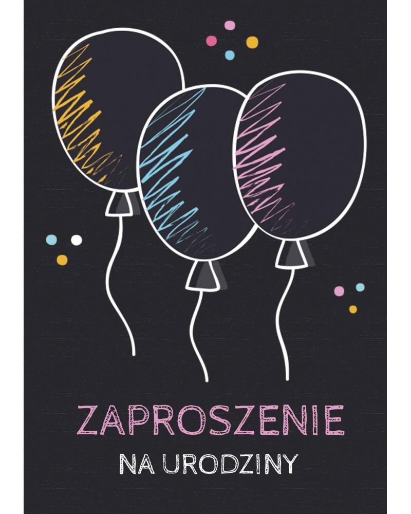 Zaproszenie na urodziny Baloniki