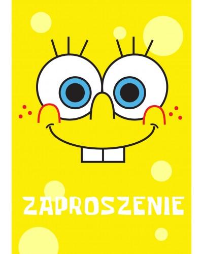Zaproszenie na urodziny Spongebob