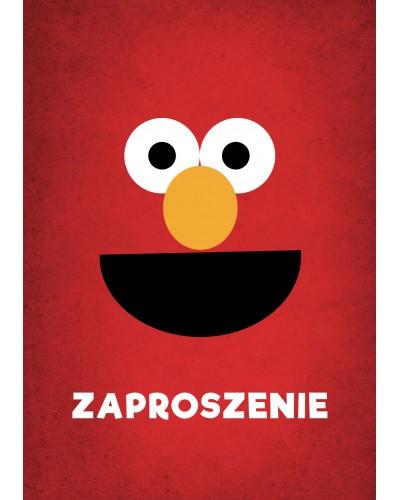 Zaproszenie urodziny Elmo Ulica Sezakowa
