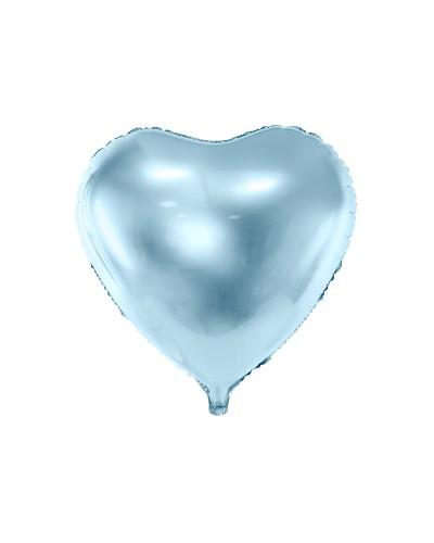 Balon foliowy 45cm Serce Błękitne