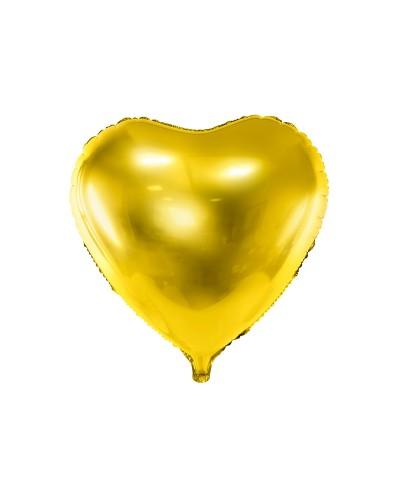 Balon foliowy 45cm Serce Złote