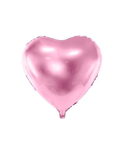Balon foliowy 45cm Serce j. róż