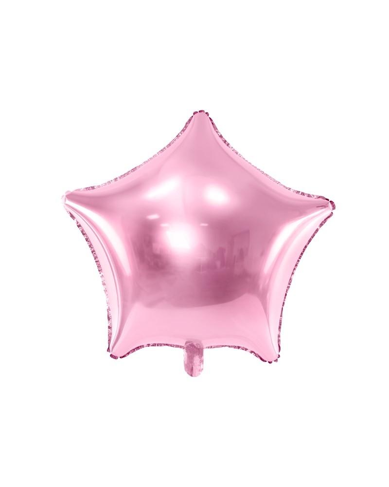 Balon foliowy Gwiazdka jasnoróżowa 48cm