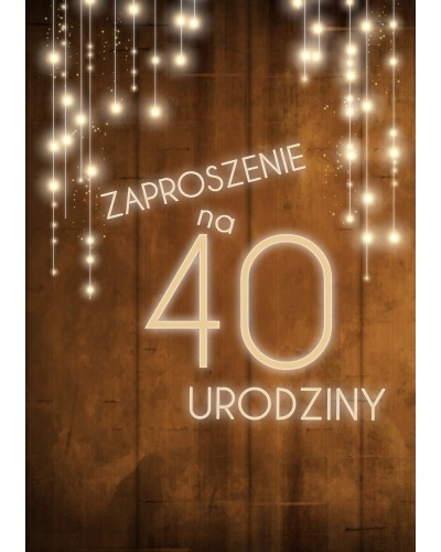 Zaproszenie na 40 urodziny LUX