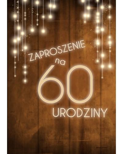 Zaproszenie na 60 urodziny LUX