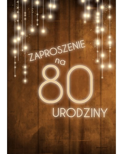 Zaproszenie na 80 urodziny LUX