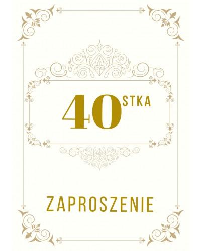 Zaproszenie na 40-ste urodziny Gatsby