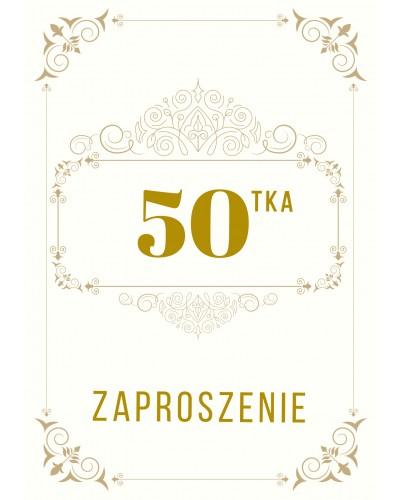 Zaproszenie na 50-te urodziny Gatsby