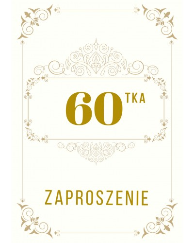 Zaproszenie na 60-te urodziny Gatsby