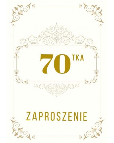Zaproszenie na 70-te urodziny Gatsby