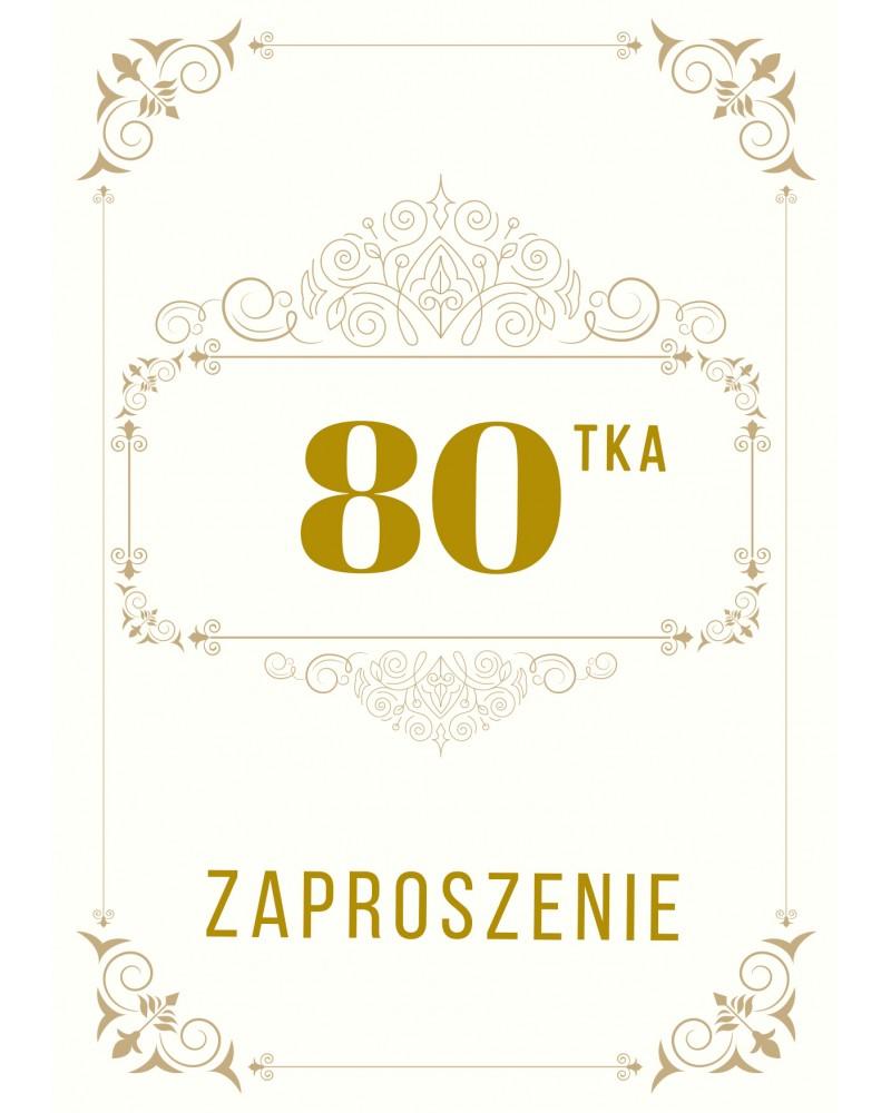 Zaproszenie na 80-te urodziny Gatsby