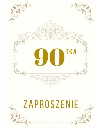 Zaproszenie na 90-te urodziny Gatsby