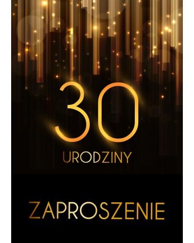 Zaproszenie na 30 urodziny Złota Kurtyna
