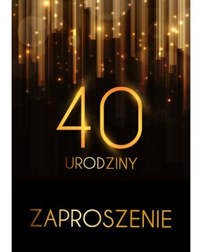 Zaproszenie na 40 urodziny Złota Kurtyna
