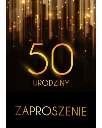 Zaproszenie na 50 urodziny Złota Kurtyna