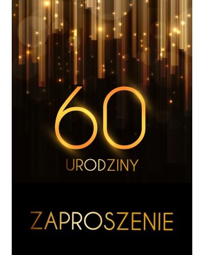 Zaproszenie na 60 urodziny Złota Kurtyna