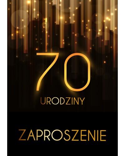 Zaproszenie na 70 urodziny Złota Kurtyna