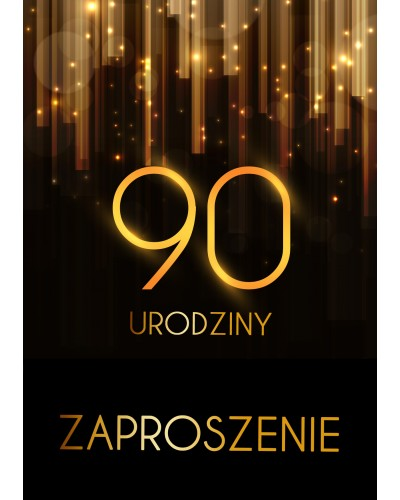 Zaproszenie na 90 urodziny Złota Kurtyna
