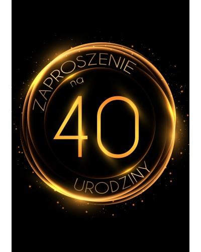Zaproszenie na 40 urodziny Złoty Glob