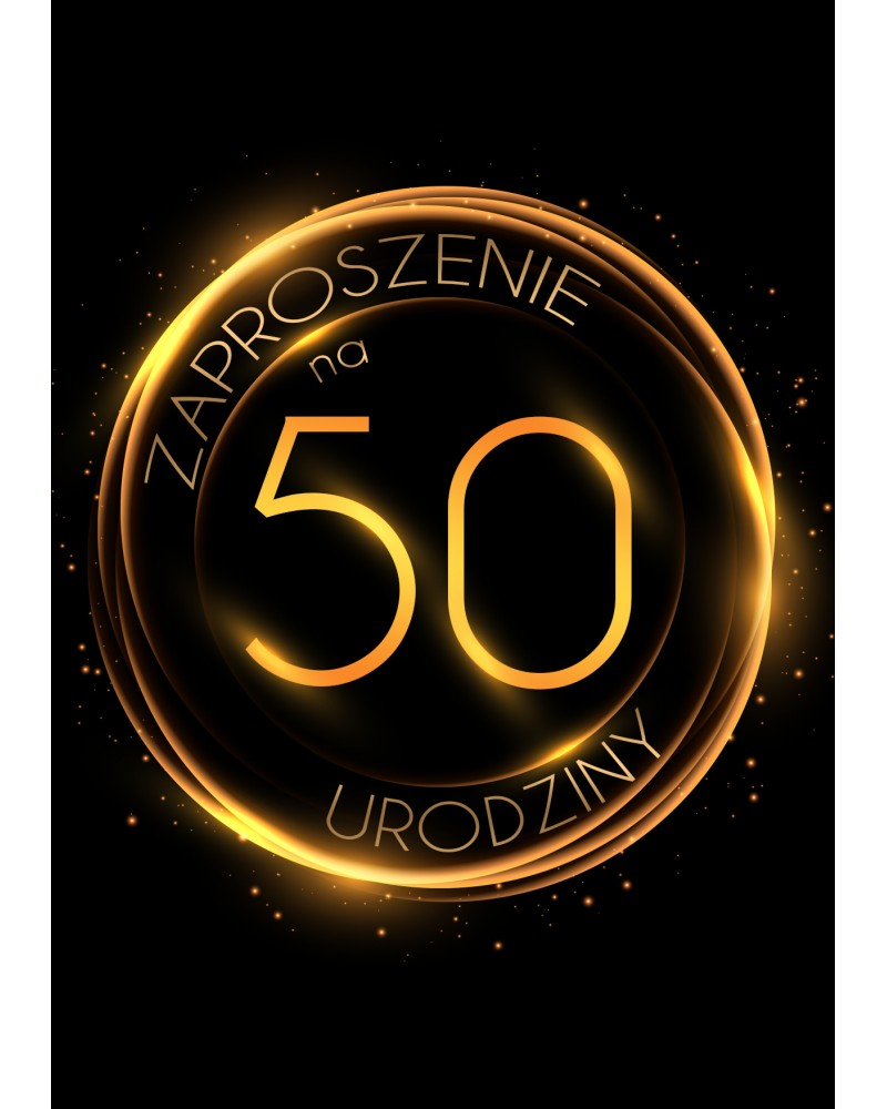 Zaproszenie na 50 urodziny Złoty Glob