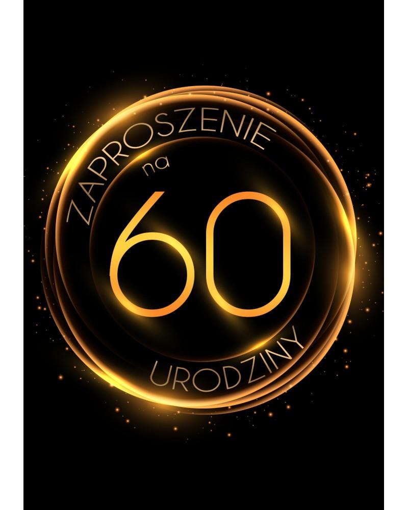 Zaproszenie na 60 urodziny Złoty Glob
