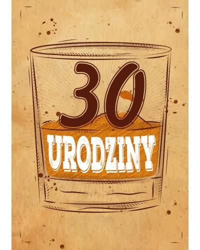 Zaproszenie na 30 urodziny Scottish Whisky