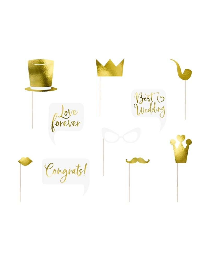 Gadżety do zdjęć Wedding Gold