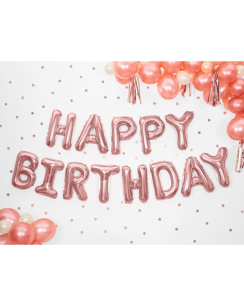 Balon foliowy HAPPY BIRTHDAY napis