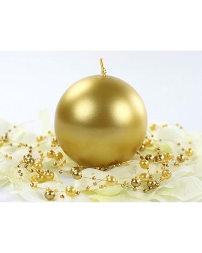 Świeca kula metalizowana 8cm złota