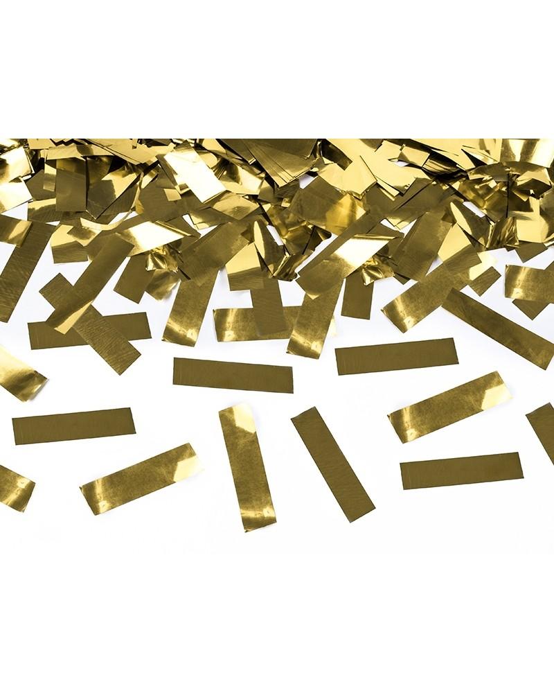 Tuba z konfetti, złoty