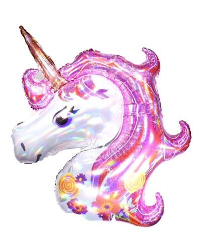 Balon foliowy błyszczący Unicorn