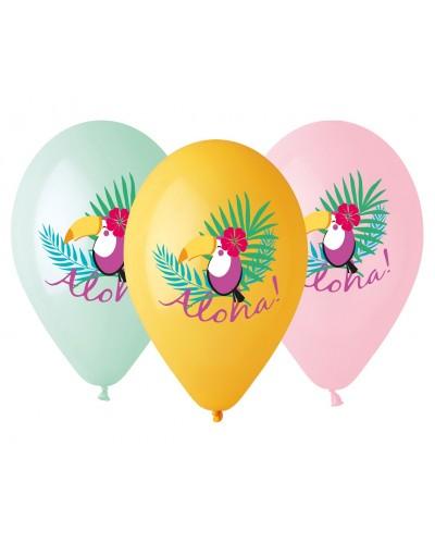 Balony lateksowe Tukan kolekcja Aloha