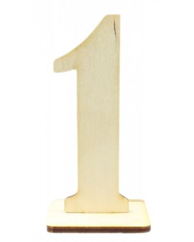 """Numerek drewniany na stół """"1"""""""