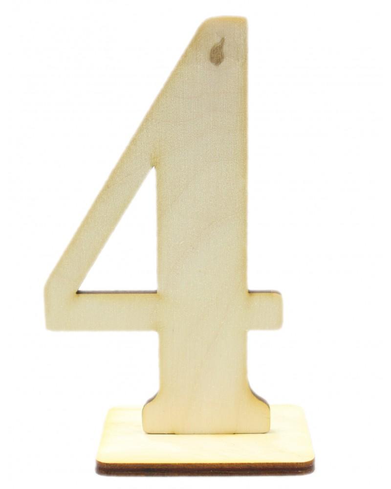 Drewniany numer 4