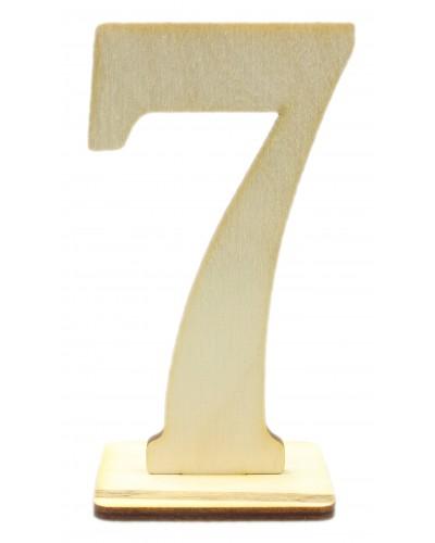 """Numerek drewniany na stół """"7"""""""
