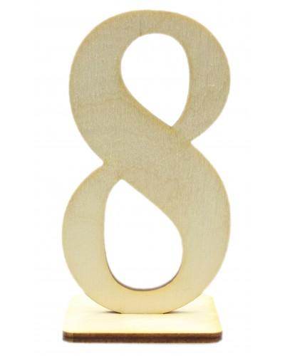 """Numerek drewniany na stół """"8"""""""
