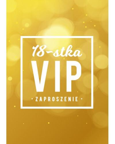 Zaproszenie na 18-stke VIP