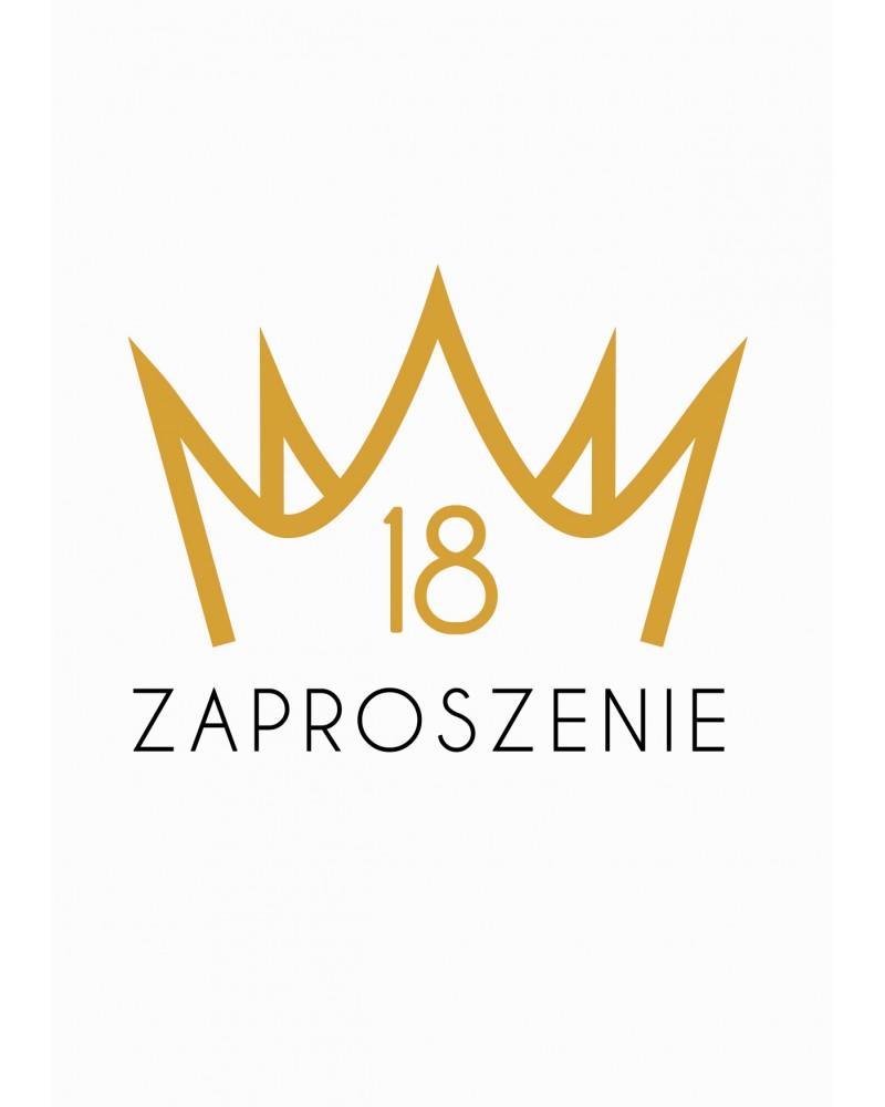 d39c4307a67273 Zaproszenie na 18-stke Królewska Korona - Sklep Happenings.pl