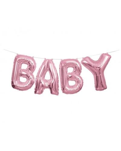 Balon foliowy napis BABY różowy