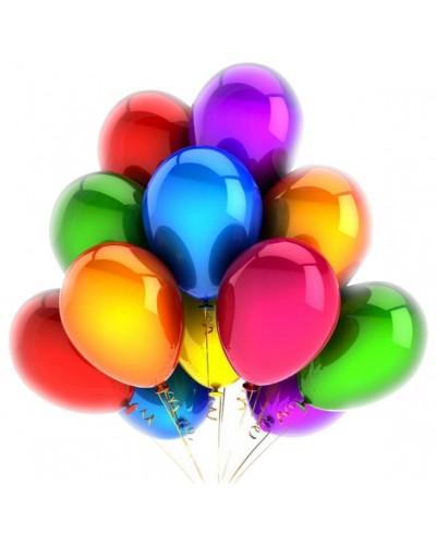 """Balony metaliczne 12"""" wielokolorowe"""