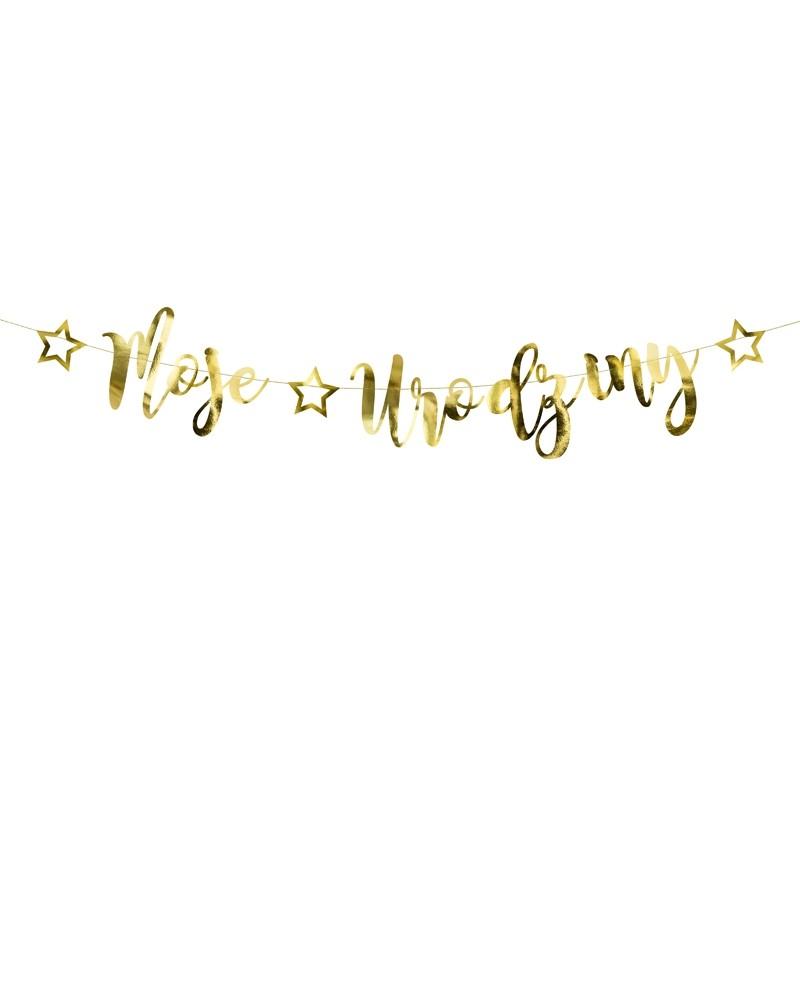 Baner moje urodziny, złoty