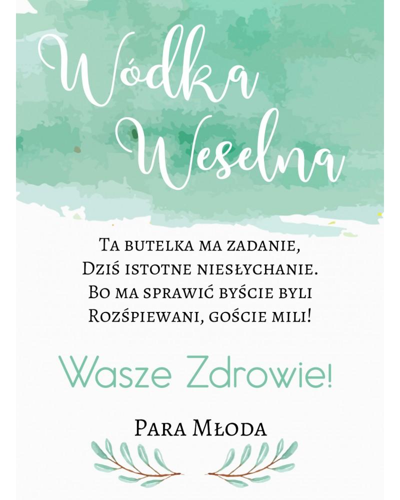 Etykiety ślubne Miętowa Jagoda