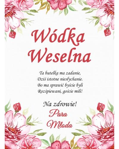 Etykiety ślubne Kwiatowy Ogród