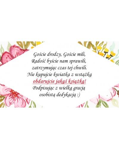 Bileciki, wkładki do zaproszeń ślubne Kwiatowy Ogród